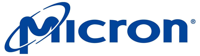 blue Micron color logo